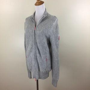 ATHLETA Wool Blend Zip Pockets Knit Cardigan